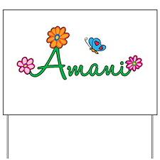 Amani Flowers Yard Sign