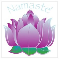 Namaste and Lotus Framed Print