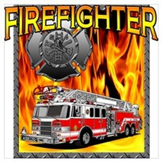 LADDER TRUCK Framed Print