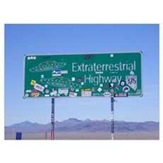 Rachel ET HWY Sign Canvas Art