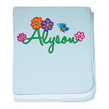 Alyson Flowers baby blanket