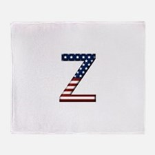 Z Stars and Stripes Throw Blanket