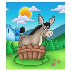 - Colourful Donkey Poster