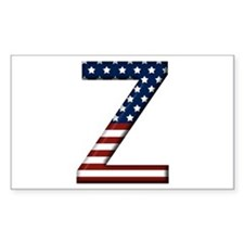 Z Stars and Stripes Rectangle Decal