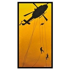 ch-146 griffon troops rappelling Poster