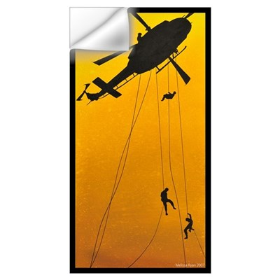 ch-146 griffon troops rappelling Wall Decal