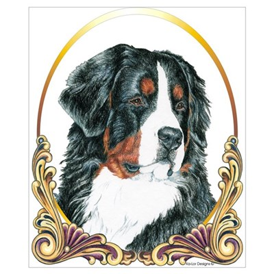 Bernese Mountain Dog Christmas Poster