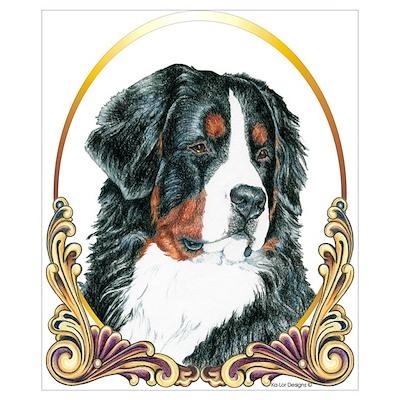 Bernese Mountain Dog Christmas Poster