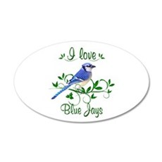 I Love Blue Jays 22x14 Oval Wall Peel