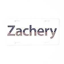 Zachery Stars and Stripes Aluminum License Plate