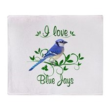 I Love Blue Jays Throw Blanket