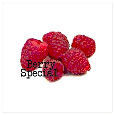 Berry Special Raspberries Poster