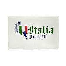 Italia Football Rectangle Magnet