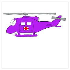 UH-1 Purple Poster