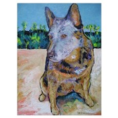 Just Say Moo Cattle Dog Poster