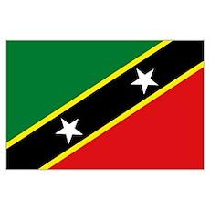 St Kitts flag Poster