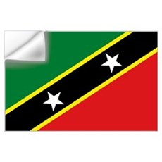 St Kitts flag Wall Decal