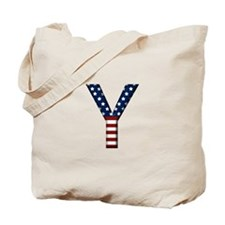 Y Stars and Stripes Tote Bag