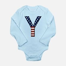Y Stars and Stripes Long Sleeve Infant Bodysuit