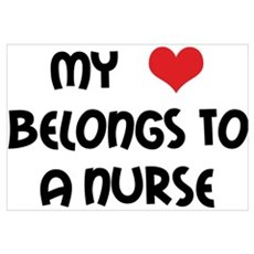 I Heart Nurses Framed Print