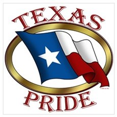 TX Flag: Texas Pride Poster