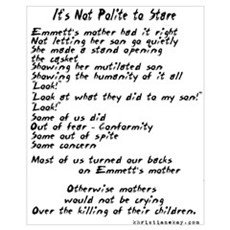 It's Not Polite to Stare 16x20 Poster