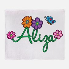 Aliza Flowers Throw Blanket