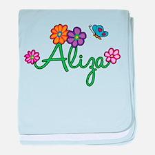 Aliza Flowers baby blanket