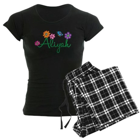 Aliyah Flowers Women's Dark Pajamas