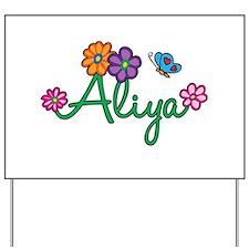 Aliya Flowers Yard Sign