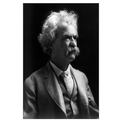 """Samuel Langhorn """"Mark Twain"""" Clemens Poster"""