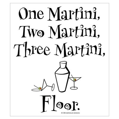 One Martini, Two Martini Framed Print