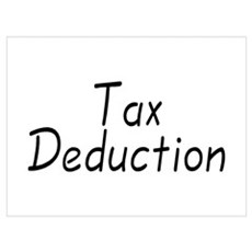 Tax Deduction Poster