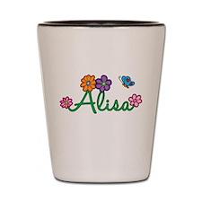 Alisa Flowers Shot Glass