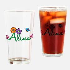 Alina Flowers Drinking Glass