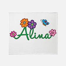 Alina Flowers Throw Blanket