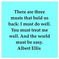 Albert Ellis quote Framed Print
