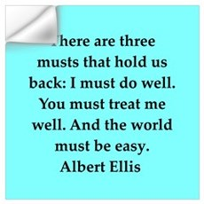 Albert Ellis quote Wall Decal
