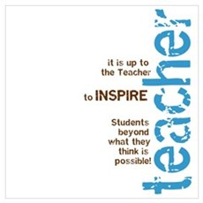 Teacher's Inspire (Blue/Brown Poster