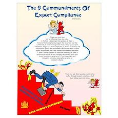 9 Commandments of Export Comp Poster