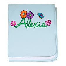 Alexia Flowers baby blanket
