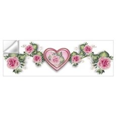 Painted Roses Wall Decal