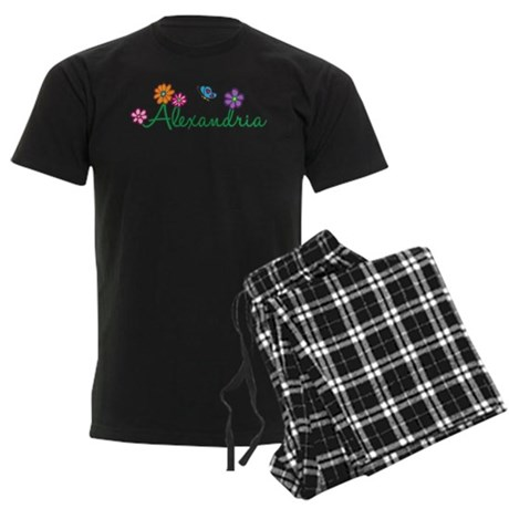 Alexandria Flowers Men's Dark Pajamas