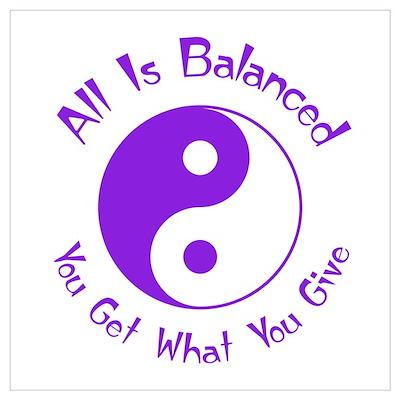 Purple Balance Yin Yang Poster