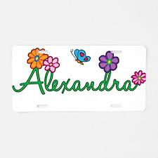 Alexandra Flowers Aluminum License Plate