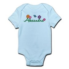 Alexandra Flowers Infant Bodysuit