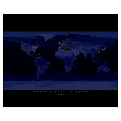 World Lights at Night Canvas Art