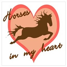horses in my heart (w/ text) Canvas Art