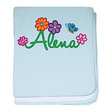 Alena Flowers baby blanket