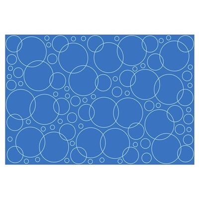 Blue Bubble Scrapbook Background Framed Print
